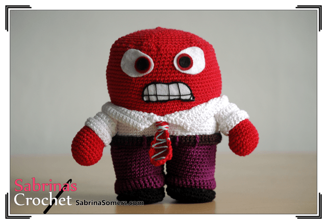 Inside Out Amigurumi Patterns : Sabrinas Crochet - Anger Amigurumi (Inside Out)