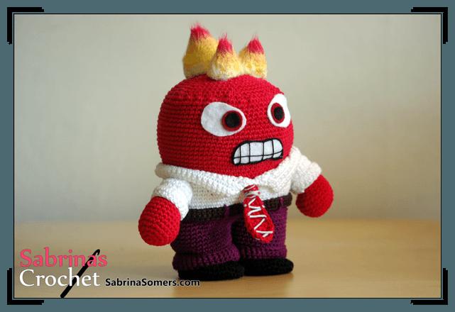 Inside Out Sadness Amigurumi : Sabrinas Crochet - Kostenlose Hakelanleitung Wut (Alles ...