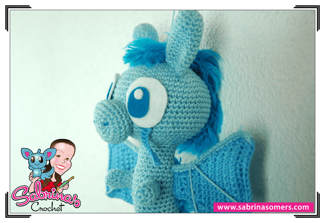 Blue Dragon - Crochet Pattern - Amigurumi
