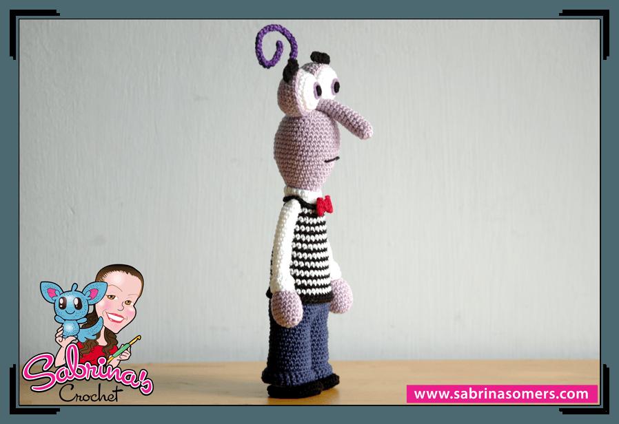 Inside Out Amigurumi Patterns : Sabrinas Crochet - Fear Amigurumi (Inside Out)