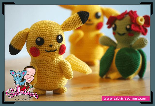 Amigurumi Pikachu Free Pattern : Pikachu - Pokemon - Mes premieres mailles au crochet
