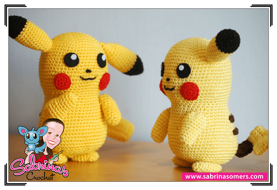 Crochet Patterns Pokemon : Sabrinas Crochet Free amigurumi crochet pattern Pikachu (Pokemon)