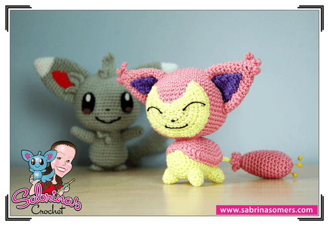 Sabrinas Crochet - Skitty Amigurumi (Pokemon)