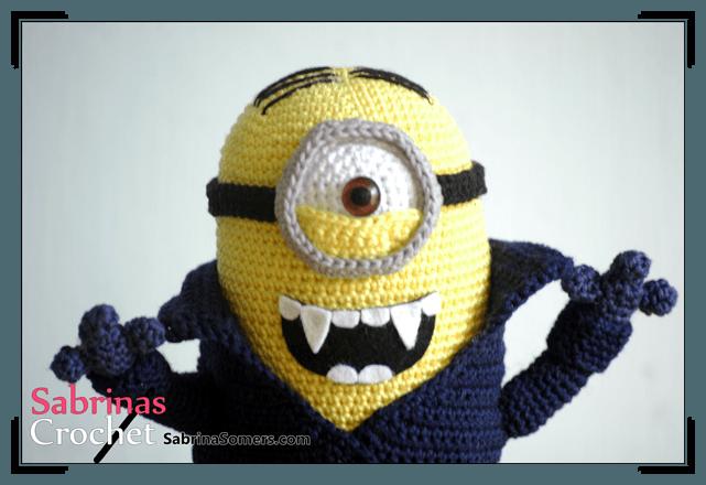 Minions Amigurumi Llavero : Sabrina s crochet minion amigurumi vampire