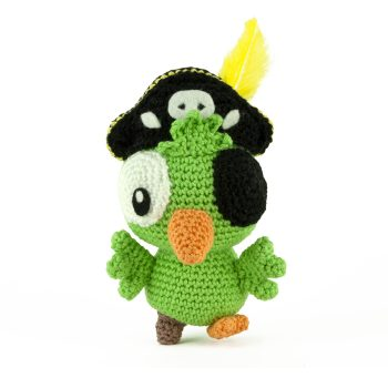 Patron au crochet Perroquet Pirate