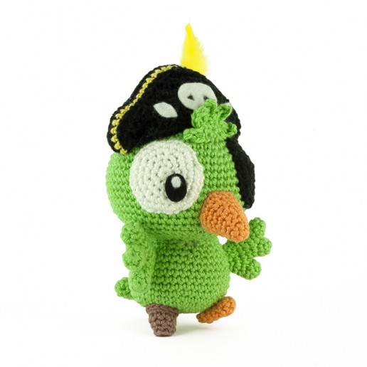 Patron au crochet Perroquet Pirate