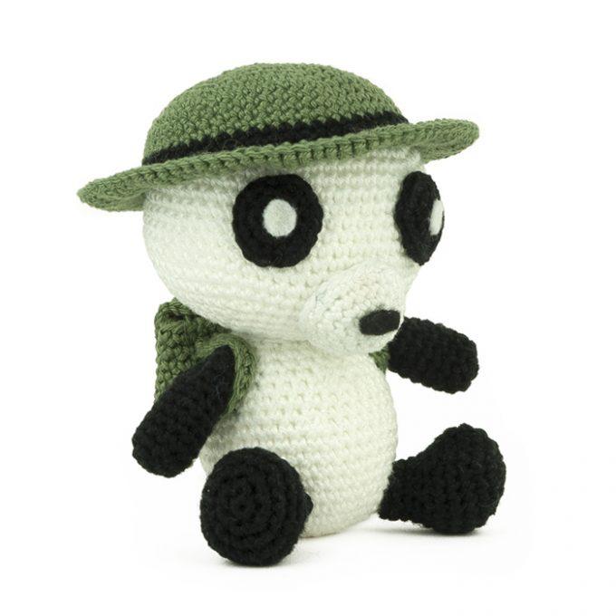 Hæklemønster Indiana Panda