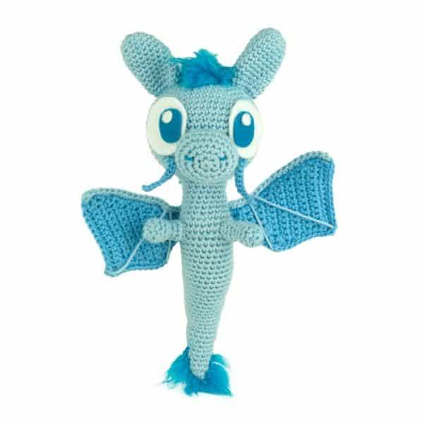 Crochet pattern Blue Dragon