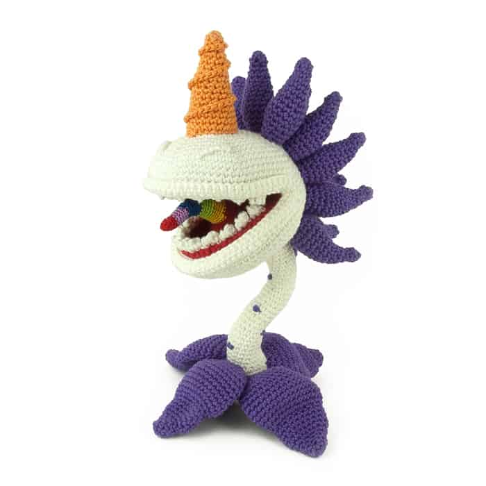 Patron au crochet Unicorn Chomper - Plants vs Zombies