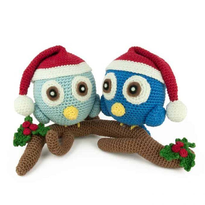 Häkelanleitung Weihnachtsvögel