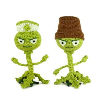 Häkelanleitung Weeds - Plants vs Zombies - Amigurumi