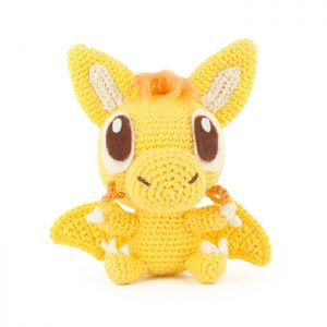 Crochet pattern Yellow Dragon