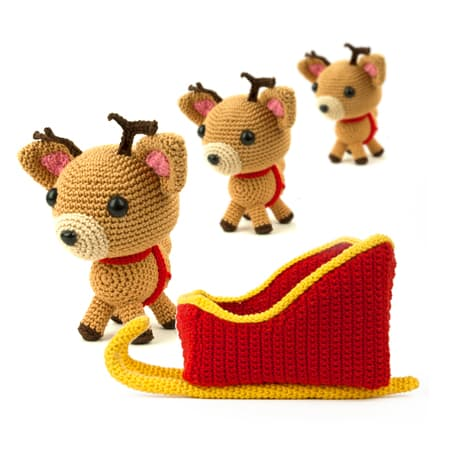 Crochet patterns Christmas Sleigh - Amigurumi