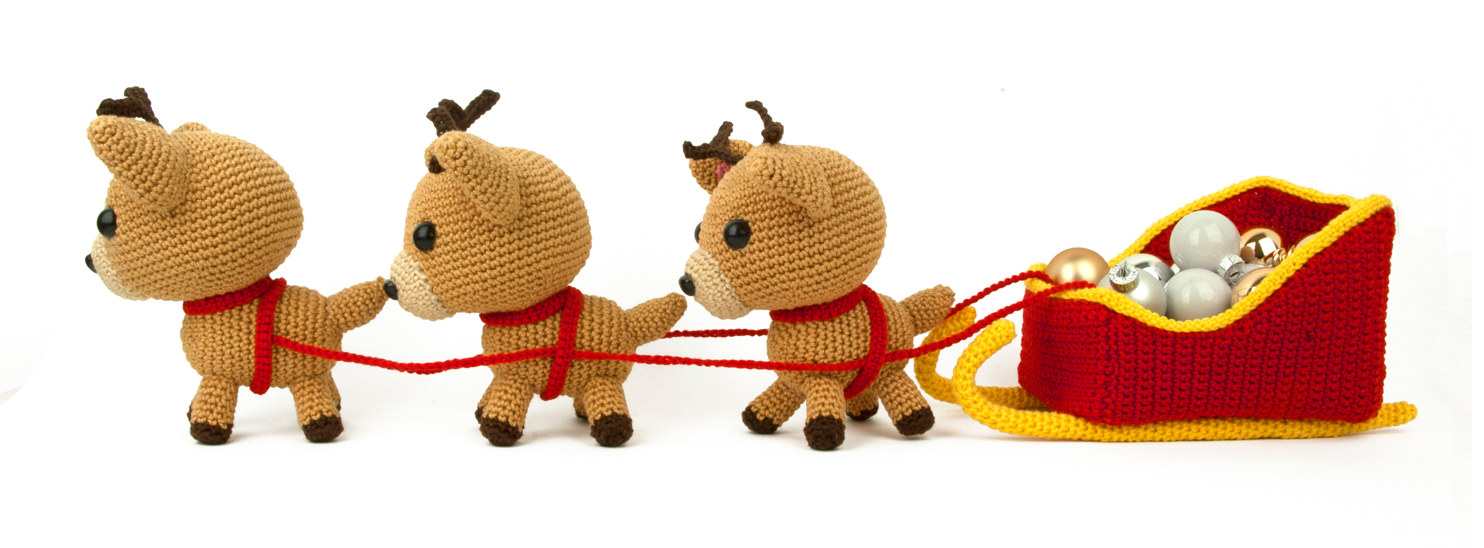 Patron au crochet Christmas Sleigh