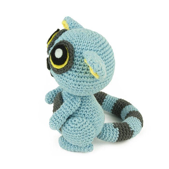 Blue Lemur free crochet pattern ⋆ Crochet Kingdom | 700x700