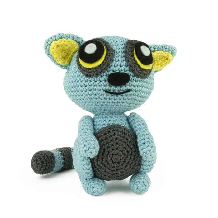 Häkelanleitung Blauer Lemur