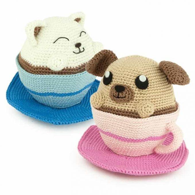 Patron au crochet Coffee Pets - Amigurumi