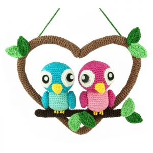 Crochet pattern Love Birds