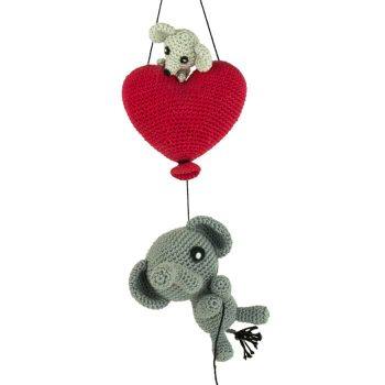 Hæklemønster Elefant i Kærlighed