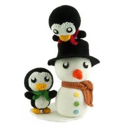Crochet pattern Snow Fun - Amigurumi