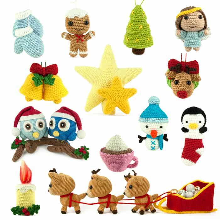 Patron au crochet Pack de Noël - Amigurumi