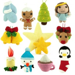 Crochet pattern Christmas Ornaments - Amigurumi