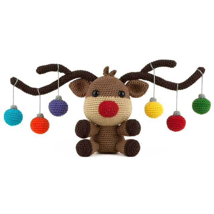 Häkelanleitung Weihnachtselch - Amigurumi