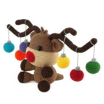 Patron au crochet Elan de Noël - Amigurumi