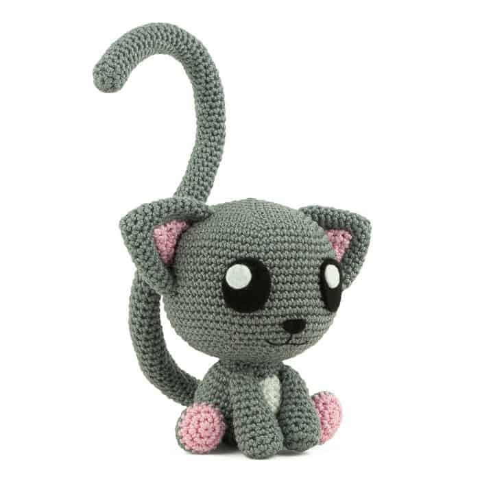 Hæklemønster Raauunnfekt Kattepar - Amigurumi