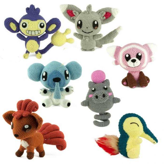 Hæklemønster - Pokemon Pakke - Amigurumi