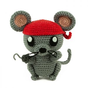 Patron au crochet Rat pirate - Amigurumi