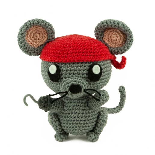 Crochet pattern Pirate Rat - Amigurumi