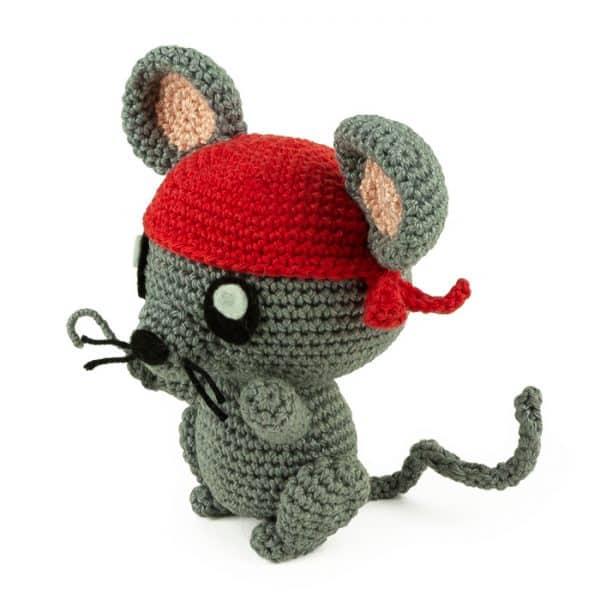 Crochet pattern Pirate Rat - Amigurumi