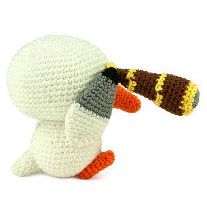 Patron au crochet Mouette Pirate - Amigurumi
