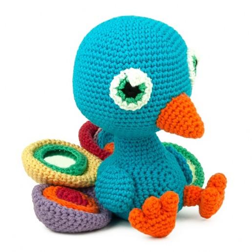 Crochet pattern Pablo the Peacock - Amigurumi