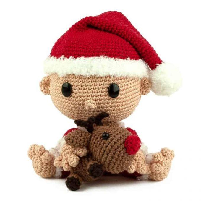 Patron au crochet Bébé Père Noël - Amigurumi