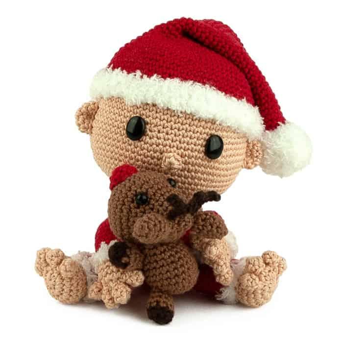 Haakpatroon Baby Kerstman - Amigurumi