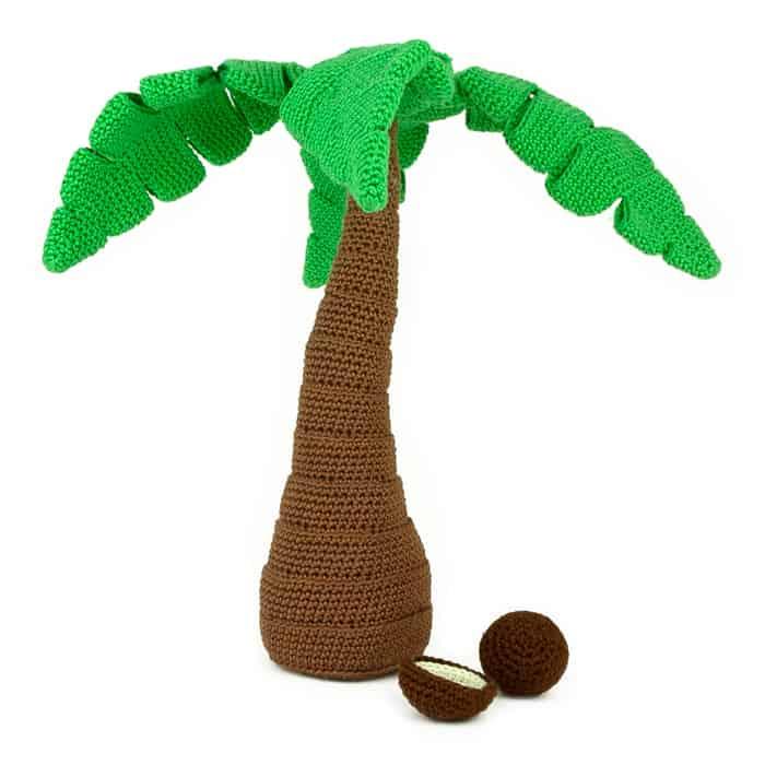 Hæklemønster Palme træ - Amigurumi