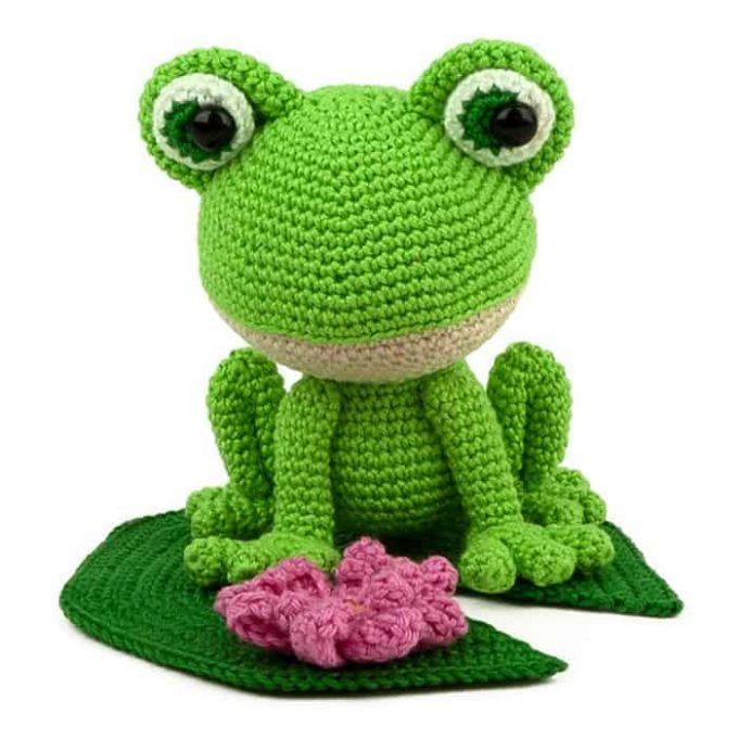 Patron au crochet Verdi la grenouille - Amigurumi