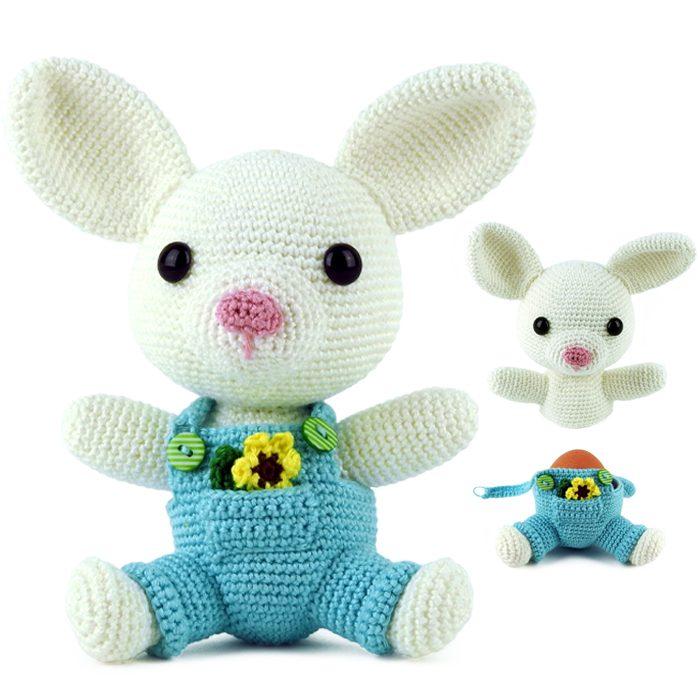 Bunny Crochet Pattern Easter Bunny Pattern Crochet Rabbit | Etsy | 700x700