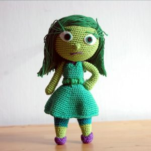 Crochet pattern Disgust - Inside Out - Amigurumi