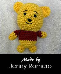 Llavero amigurumi de winnie pooh a crochet - YouTube | 240x200