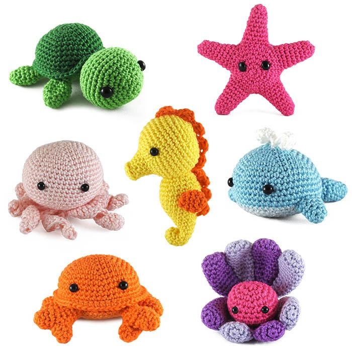 Set of four mini amigurumi ocean animals | aftcra | 700x700