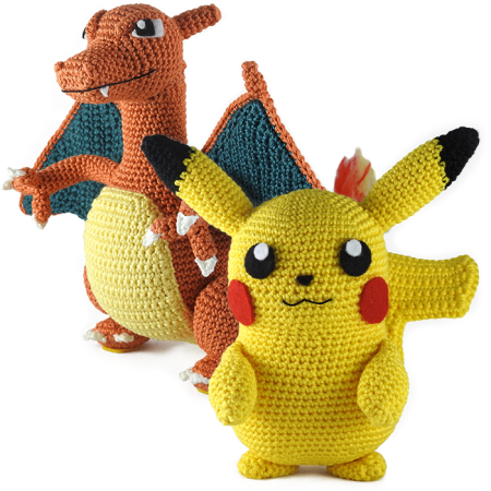 Pikachu and Charizard