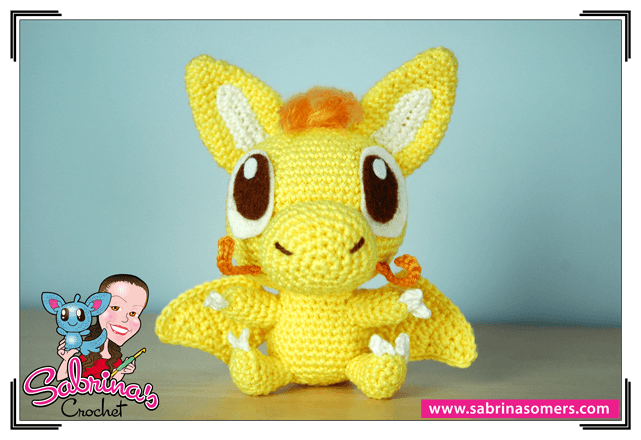 Yellow Dragon - Crochet Pattern - Amigurumi